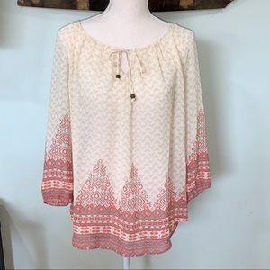 Maurices boho crochet back top size Medium